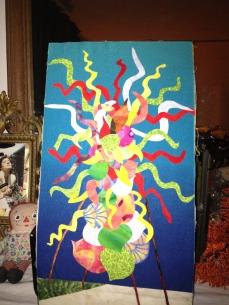 "Chihuly Chandelier, 8"" x 15"", Philadelphia, 2008."