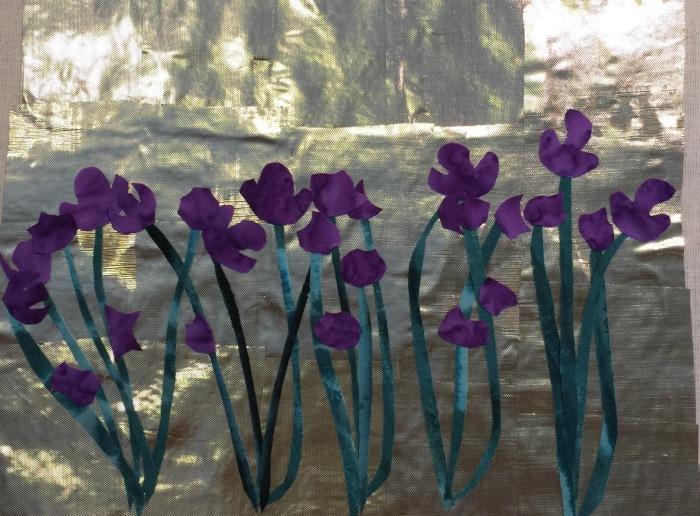 First attempt at an iris rimpa.