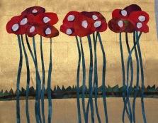 """Poppies, 8"""" x 10"""", 2016"""