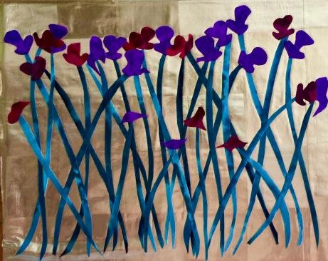"""Irises #4, 8"""" x 10"""", 2016."""