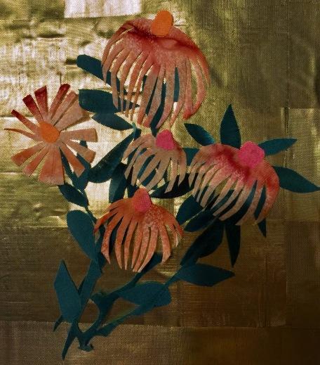 Four Seasons, detail of coneflower
