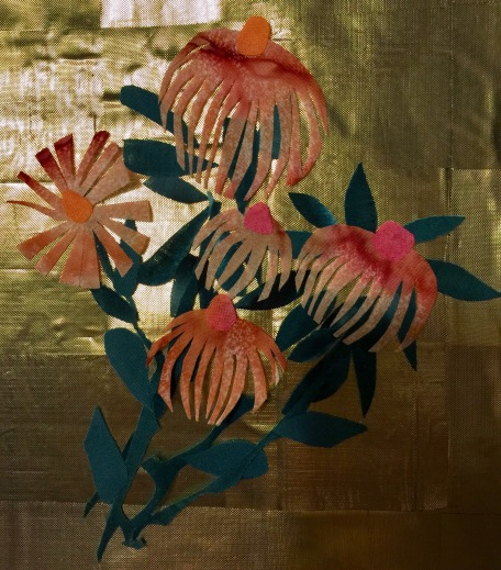 Four Seasons, detail of coneflower