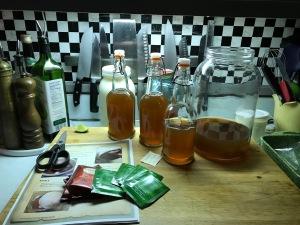 Cultured tea (kombucha)